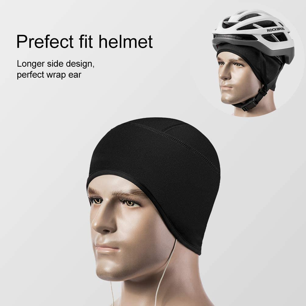 RockBros Skull Cap Men /& Women Thermal Cycling Helmet Liner Moisture Wicking Motorcycle Running Hat,Fits Under Helmets