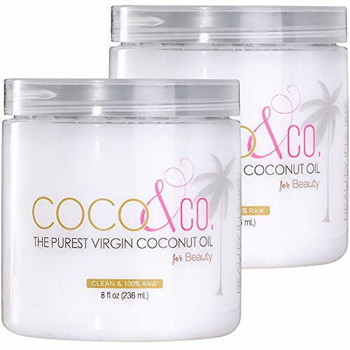 Coconut Oil for Hair & Skin By COCO&CO. Beauty Grade 100% RAW (2 Pack) (Company Coconut)