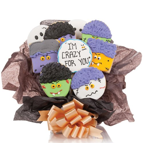 Ghoulish Crazy for You Cookie Bouquet - Set of 9 - Bouquet Halloween Cookie