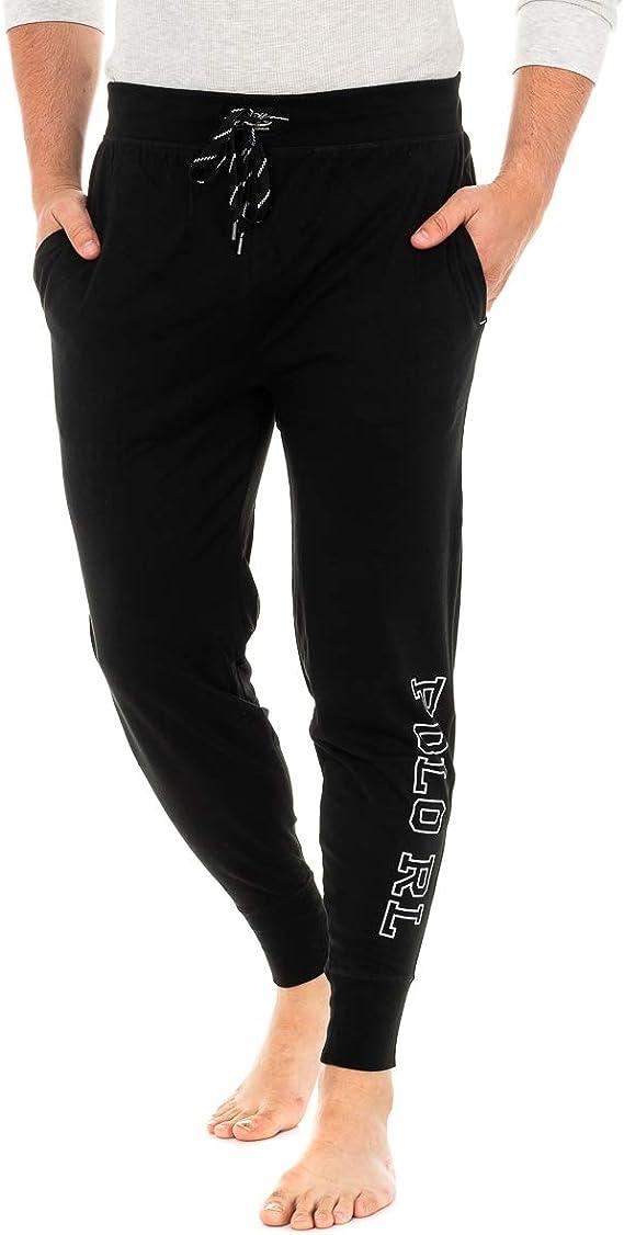 Polo Ralph Lauren Hommes Pantalon de Survêtement Jogger Pant, Sleep Bottom, Polo RL Logo, Long