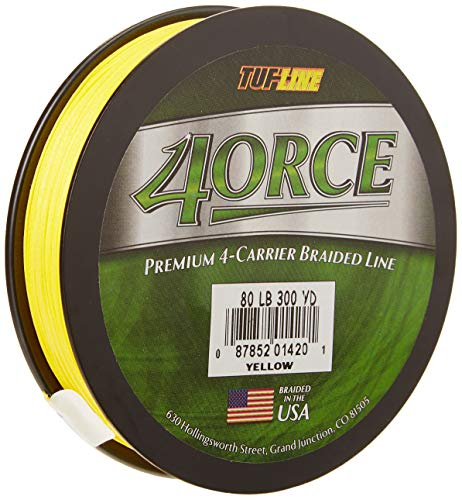 Tuf Line 4Orce 300 yd Fishing Line, Yellow, 65 lb For Sale