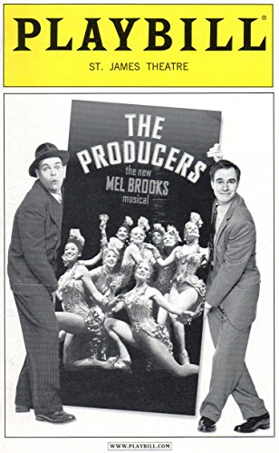 THE PRODUCERS Playbill for the Original Broadway Production, Starring Brad Oscar and Roger Bart, St. James Theatre, June 2004