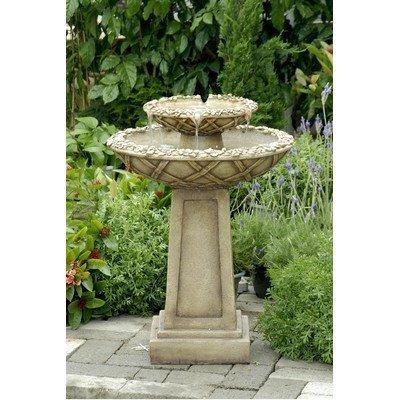 Polyresin & Fiberglass Tiered Bird Bath Fountain by Jeco Inc. by Jeco Inc.