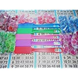 COMBO PACK - 10 BAGS OF MAGNETIC BINGO CHIPS (100 CT EACH) + 5 BINGO WANDS