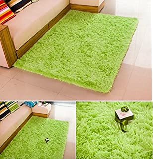 Charming HUAHOO Super Soft Indoor Modern Shag Area Silky Rugs Dining Room Living Room  Bedroom Rug Baby