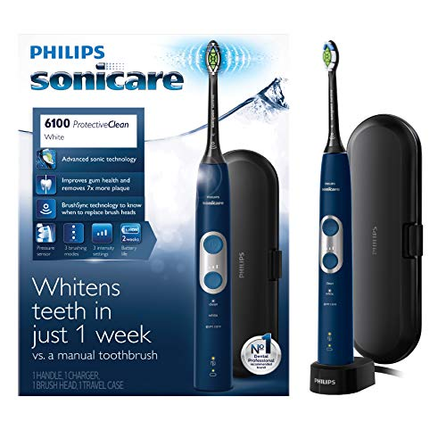 Philips Sonicare ProtectiveClean 6100 Rechargeable Electric Toothbrush,