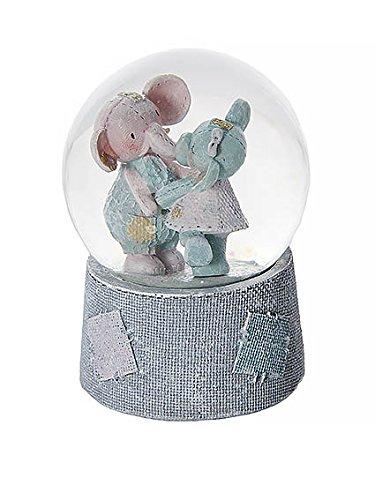 Elephant Musical Snow Globe Music Box for Girls New Baby or Childrens Gift