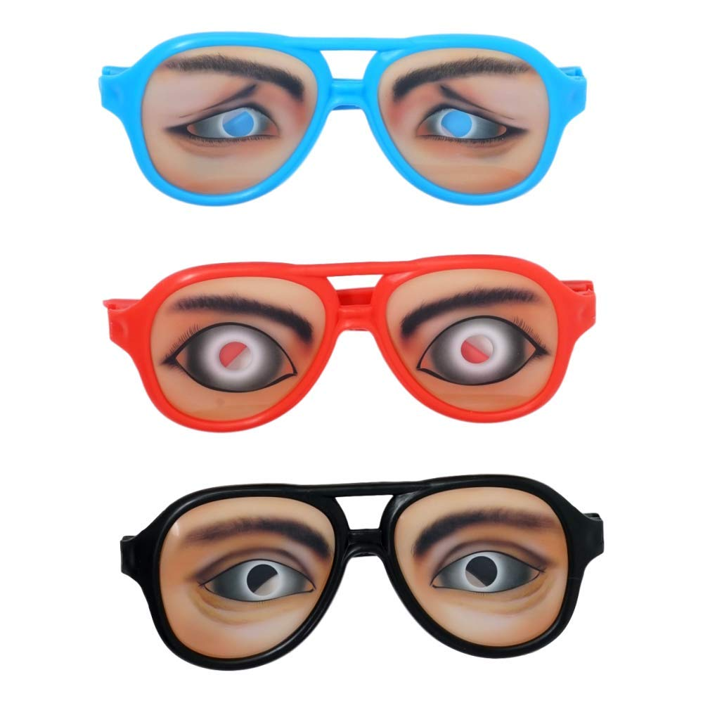 3 Pack SFAM Goofy Party Glasses Funny Eyes
