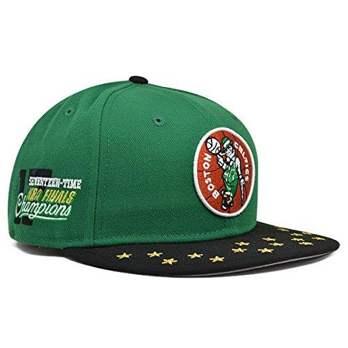 NBA Boston Celtics Star Trim 9Fifty Snapback Cap, One Size, Green