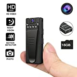 Night Vision Hidden Camera, HD Mini Camera, Nanny Camera with Loop Recording and Motion Detection, Spy Camera for Home and Office Monitoring(included 16GB SD card)