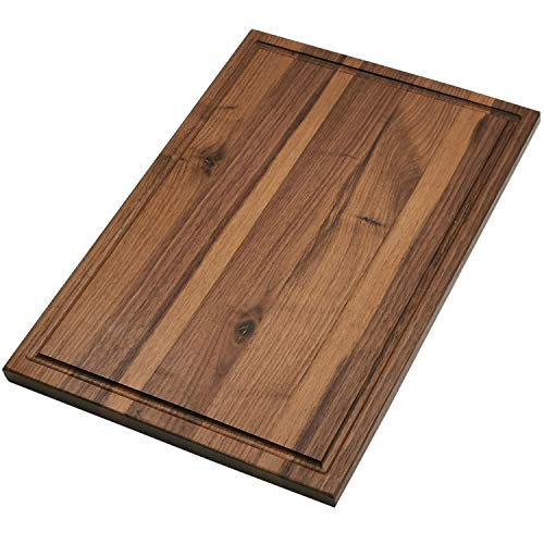 Cutting Board - Wood Cutting Boards for kitchen Large Chopping Board 16x12 American Walnut Hardwood Carving Countertop Block with Juice Groove for Meats Bread Fruits