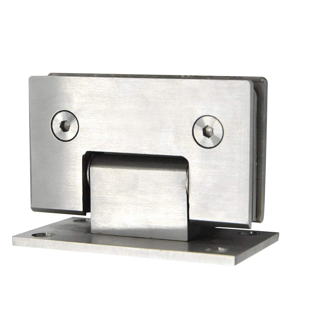 0.5 pulgadas plateado Bisagras para puerta de cristal de acero inoxidable bisagra de cristal de 90 grados montaje en pared para puerta de cristal//vitrina de vidrio para vidrio de 0.3 2 unidades