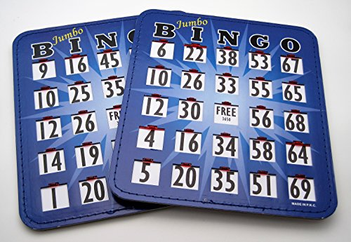 Pair (2) of Jumbo Bingo Cards by Spinettis