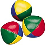 3 x Multi-Coloured Juggling Balls - LEARN TO JUGGLE