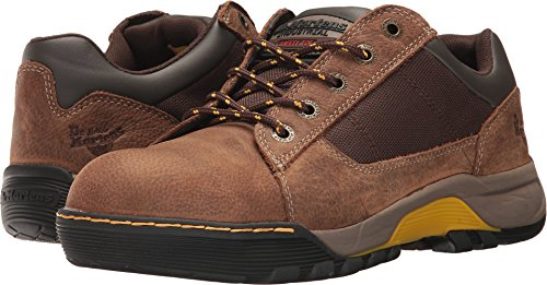 Dr. Martens Unisex Piton Steel Toe 5 Eye Shoes, Brown Leather, Rubber, 7 M UK, M8/W9 M US