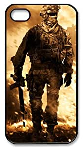 LZHCASE Personalized Protective Case for iphone 4 - Call of Duty Modern Warfare 2 Burning