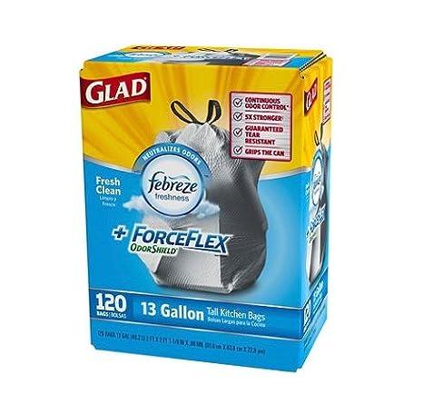 Amazon.com: Glad ForceFlex odorshield Tall Cocina Bolsas de ...
