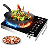 Portable Induction Cooktop induction stove Countertop Burner, 2200-Watt 120-Volts Induction Cooker Smart Touch Sensor Electric ceramic cooker, Stainless Steel Cookware Ceramic Glass Plate Cooktop with Temperature Control