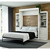 Bestar Edge Queen Wall Bed with Storage in White
