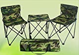 NIKAVI Portable Chair - 2 PC & Table - 1 PC - Camouflage For Car,Trekking,Home & Office