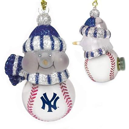 mlb new york yankees all star light up snowman ornament