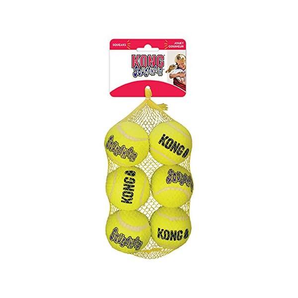 KONG Squeak Air Balls, Medium, Pack of 6 1
