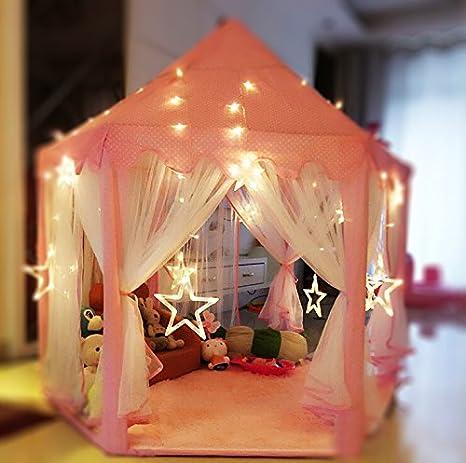 Alfombra de felpa para tienda campaña infantil para niños/ 140*120cm - Rosa: Amazon.es: Juguetes y juegos