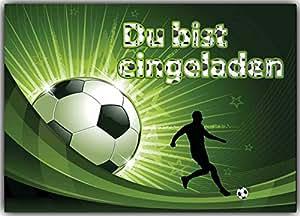 - Balón de fútbol Tarjetas de invitación Niños Cumpleaños