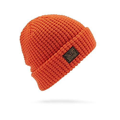 Volcom Men's Road Test Skull Fit Beanie, Tiger Lily One Size