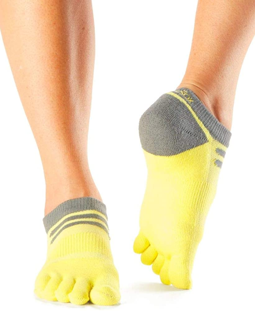Low Rise and Long Distance Running Trails Toe Socks for Hiking toesox UltraSport Performance Medium Weight No Show