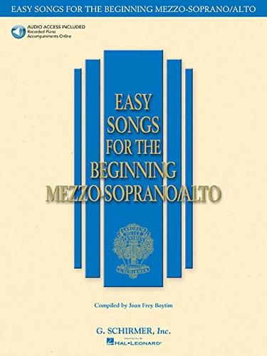 Easy Songs for the Beginning Mezzo-Soprano/Alto (Book & CD)