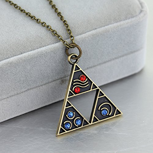 Zelda Collar Importado Link Triangulo Trifuerza Elementos Ocarina of Time