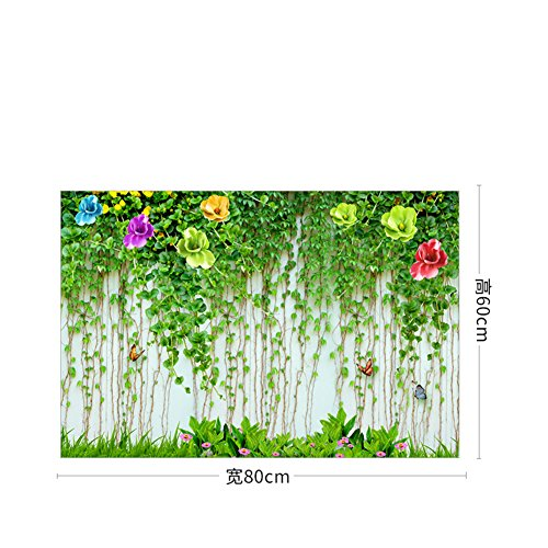 QT&QZDF Flower sliding door stickers,Wardrobe stickers mirror stickers window film elevator door stickers glass stickers-A
