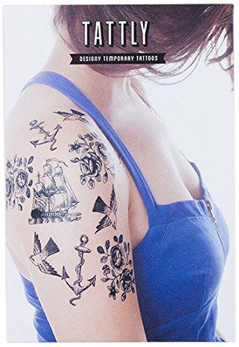 Amazon Com Tattly Temporary Tattoos Nautical Set Beauty
