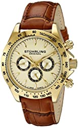 Stuhrling Original Men's 564L.02 Triumph Classic Swiss Quartz Multifunction Gold-Tone Watch