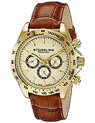 Stuhrling Original Men's 564L.02 Champion Victory Triumph Classic Swiss Quartz Day and Date Gold Tone Watch