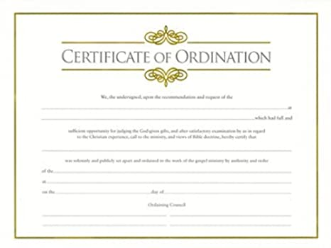 photo regarding Printable Ordination Certificate known as blank ordination certificates -