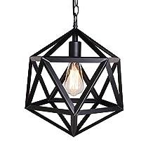 MKLOT Ecopower Industrial Edison Hanging Pendant 1 Light Large Size Art Deco Cage Lamp Guard