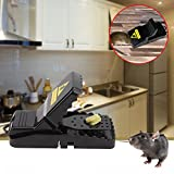 Mouse Trap,Humane Rat Trap Snap Rodent Killer,Reusable Mice Catcher-Sensitive & Effective Traps for 100% Kill Results (Mouse Trap 4 pack)