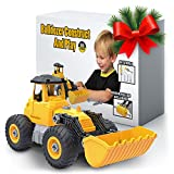 Kidwerkz Bulldozer Toy, Take Apart Toys Fun, Gift for 4 year old boy, Toddler Ages 3 years - 6yr (55 pieces), Tractor Construction Truck Vehicle, Best Kids Gifts for Holidays 2017, Stem Learning Tools