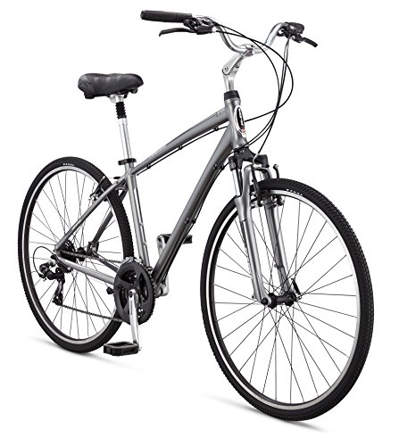 Schwinn Men's Voyager 1 700C Wheels Hybrid Bicycle, Grey, 18