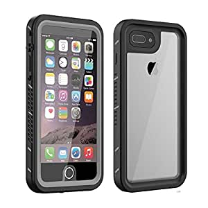 Waterproof iPhone 7 Plus/8 Plus Case With Built-In Screen Protector – Smilenut Underwater Full Body Apple Phone Shell Case – Clear Protective iPhone Case With Military Tested Shockproof And Drop Proof