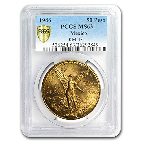 1946 MX Mexico Gold 50 Pesos MS-63 PCGS Gold MS-63 PCGS