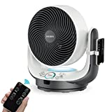 Air Circulator Fan Fochea Powerful Oscillating Desk Fan / Table Fan Enhanced Airflow Multi-mode with Remote Control,8 Speeds Adjustable, 90 Degree Head Swing, 7 Kinds of Timer Setting for Home Office