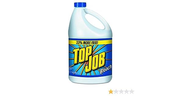 Amazon com: Top Job 11007735044 Regular Bleach, 1 gal Bottle (Case