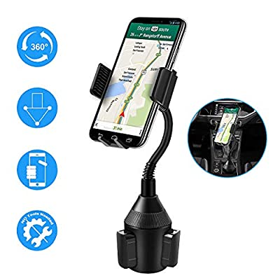 Vansky Car Cup Holder Phone Mount with A Long Flexible Neck for Cell Phones iPhone XR /11 Pro/11 Pro Max/XS/Max/X/8/7 Plus/Samsung Galaxy