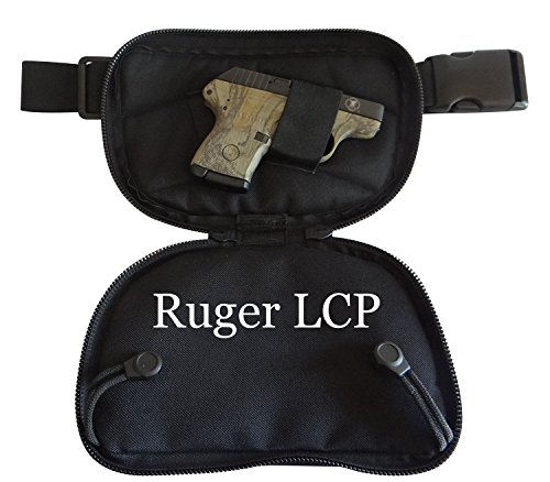 SMALL - DTOM Concealed Carry Fanny Pack Cordura NYLON -Black (Best Carry Weapon For A Woman)