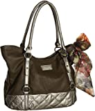"Dark Brown Vitalio Vera ""Carmen"" Tote, Bags Central"