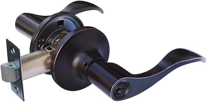 Oil Rubbed Bronze Constructor CON2853 Entry Lever Door Prelude Handle Lock Set