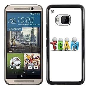 LECELL -- Funda protectora / Cubierta / Piel For HTC One M9 -- TEAM --